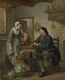 Адриан де Лели, Утренний визит, 53×43 см, 1790−1799, Rijksmuseum, Амстердам, Нидерланды