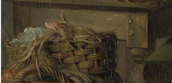 Адриан де Лели, Утренний визит, фрагмент «Ножка стола с шипами»