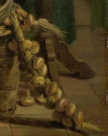 Адриан де Лели, Женщина, пекущая блины, фрагмент «Связка лука»