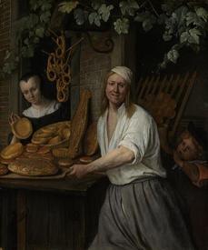 Ян Стен, Пекарь Арент Оставаарт и его жена Катарина Кайзерсваарт, 1658, 38х31 см, Rijksmuseum, Амстердам, Нидерланды