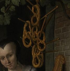 Ян Стен, Пекарь Арент Оставаарт и его жена Катарина Кайзерсваарт, фрагмент «Кренделя»