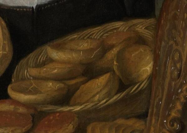 Ян Стен, Пекарь Арент Оставаарт и его жена Катарина Кайзерсваарт, фрагмент «Булочки»