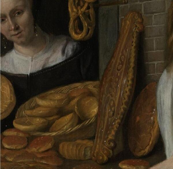Ян Стен, Пекарь Арент Оставаарт и его жена Катарина Кайзерсваарт, фрагмент «Печатный пряник»