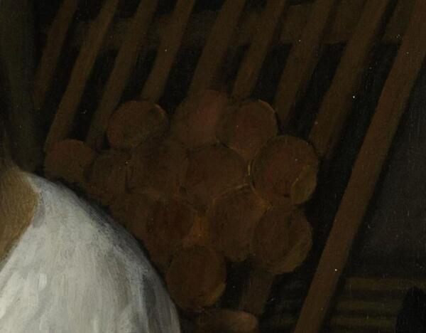 Ян Стен, Пекарь Арент Оставаарт и его жена Катарина Кайзерсваарт, фрагмент «Булочки на решетке»