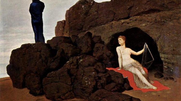 Арнольд Бёклин «Одиссей и Калипсо» (1883).