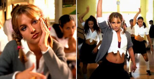 Сначала режиссёр Н. Дик планировал, что Бритни в клипе будет одета в футболку и джинсы. Но Бритни решила сделать образ нимфетки более сооблазнительным - косички, юбочка, блузка (последнюю она укоротила, чтобы было удобно танцевать).