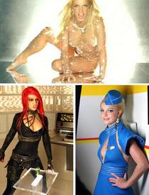 Образы Бритни из клипа «Toxic».