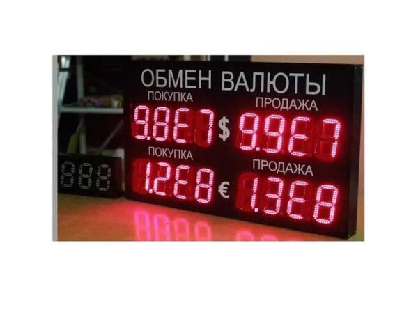 Один из вариантов использования имеющихся табло обменных пунктов в условиях гиперинфляции.
