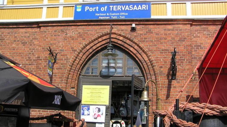 Вид на порт и пристань Хамина