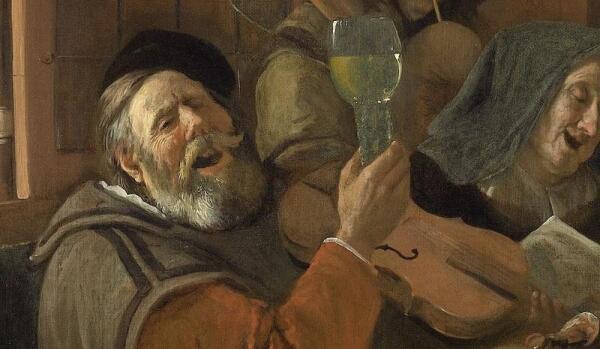 Ян Стен, Веселая семейка, фрагмент «Глава семейства со скрипкой»