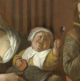 Ян Стен, Веселая семейка, фрагмент «Малышка»