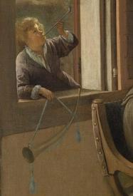 Ян Стен, Веселая семейка, фрагмент «Трубач в окне»