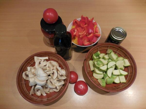 Овощи и грибы не стоит резать мелко