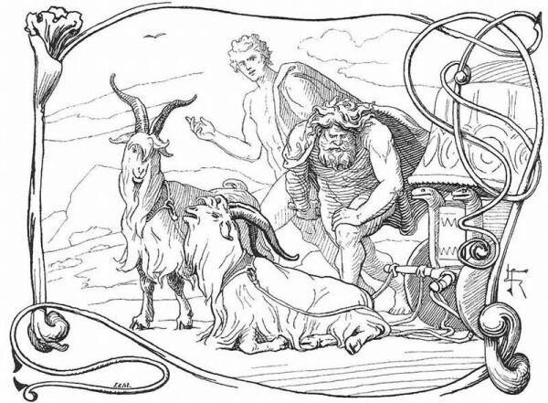 Имена козлов Тора Таннгньостр и Таннгриснир переводятся, как