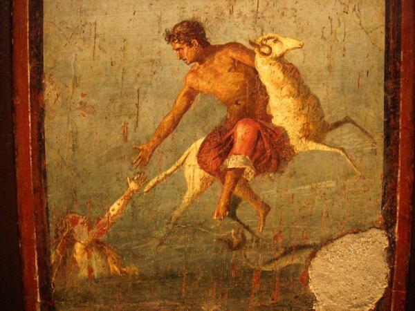 Крий, Гелла и Фрикс (фреска из Помпей)