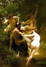 «Нимфы и сатир», картина художника Адольфа Вильяма Бугро (1873).