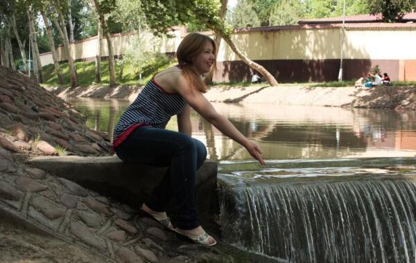 Река Анхор в Ташкенте