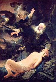 Рембрандт, «Жертвоприношение Авраамом Исаака».
