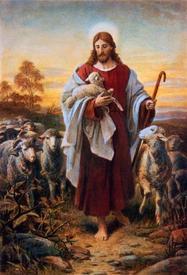 Более знакомый нам образ Христа - Доброго Пастыря.