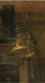 Ян Стен, День принца, фрагмент «Колокольчик под потолком»