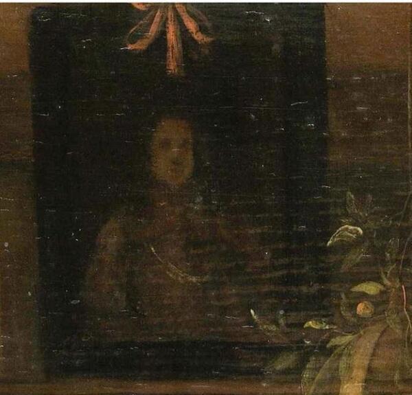 Ян Стен, День принца, фрагмент «Портрет принца»