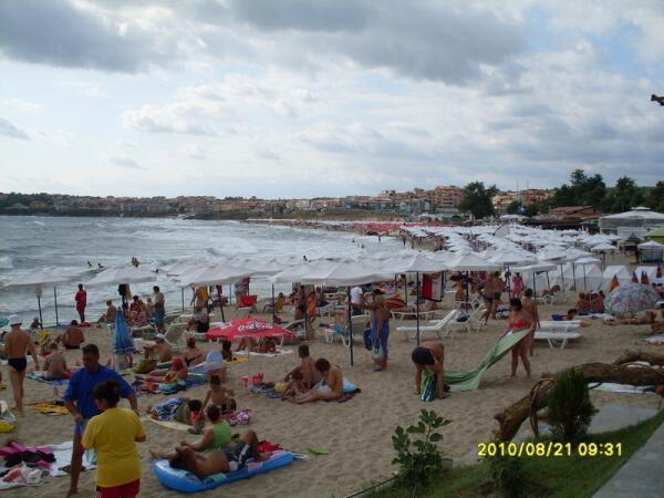 Пляж нового города