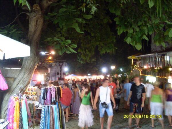 Улица старого города вечером
