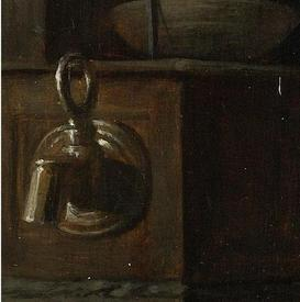 Габриэль Метсю, Женщина за едой, фрагмент «Водопроводный кран»