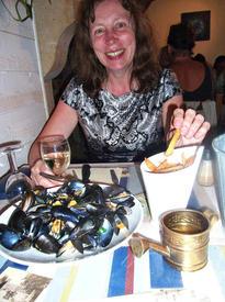 Наша гостья Ирина в ресторане