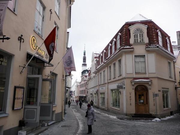 Таллин: одна из улиц старого города