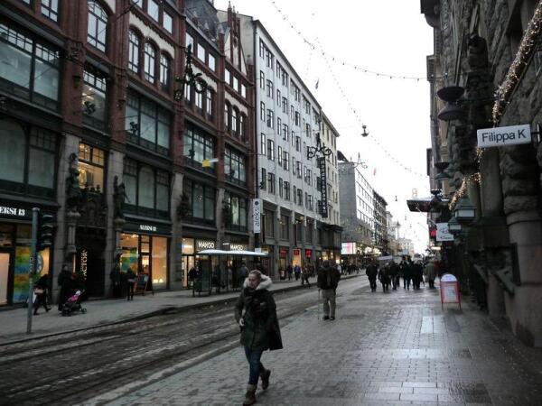 Хельсинки: одна из улиц города