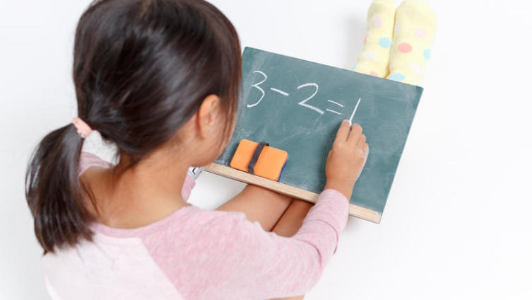 Mathematics for preschoolers. How do you teach a child to count? Сommon core math example.