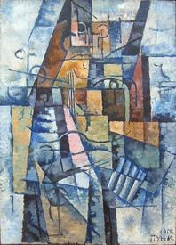 Иван Пуни. Портрет жены художника, Русский музей