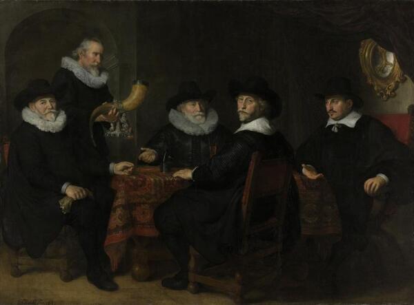 Говерт Флинк, Четыре командира гражданской гвардии Амстердама, 1642, 203х288 см, Rijksmuseum, Амстердам, Нидерланды
