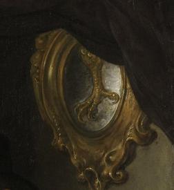 Говерт Флинк, Четыре командира гражданской гвардии Амстердама, фрагмент «Когтистая лапа – эмблема аркебузиров»
