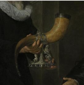 Говерт Флинк, Четыре командира гражданской гвардии Амстердама, фрагмент «Рог»