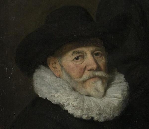 Говерт Флинк, Четыре командира гражданской гвардии Амстердама, фрагмент «Ян Клэш Влосвик (1571-1652)»