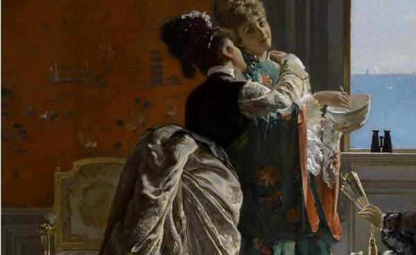 Эдуард Рихтер, Визит к роженице, фрагмент «Платья»
