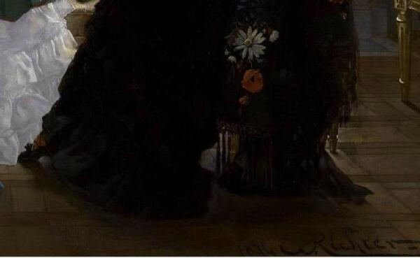Эдуард Рихтер, Визит к роженице, фрагмент «Туфелька и цветы»