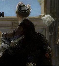 Эдуард Рихтер, Визит к роженице, фрагмент «Платье»