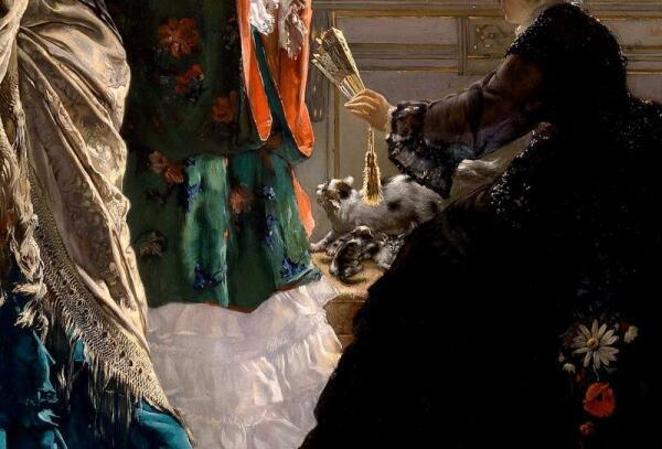 Эдуард Рихтер, Визит к роженице, фрагмент «Кошка с котятами»