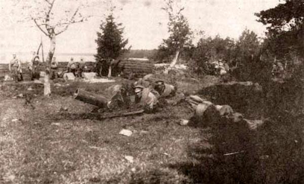 Позиции Стрелкового полка ОСШ на Аландских островах. 1916 г.