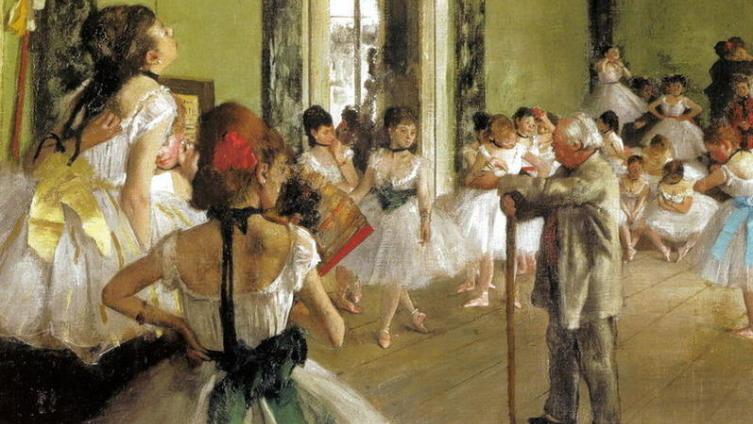 «Урок танцев», фрагмент картины