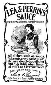 Реклама английского соуса, 1900 год