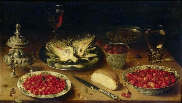 Осиас Беерт, Натюрморт 1620-1624, 46х79 см, Rijksmuseum, Амстердам, Нидерланды