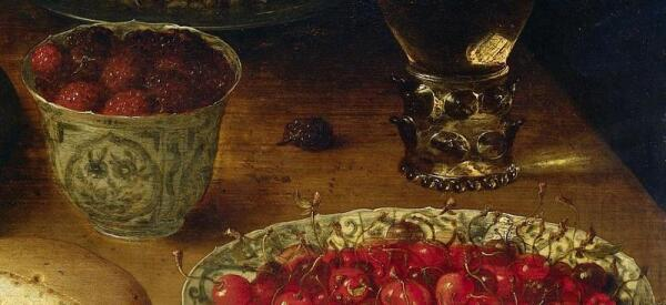 Осиас Беерт, Натюрморт, фрагмент «Края блюда и чашки»