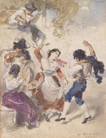 Танец на картине художника Антона Ромако