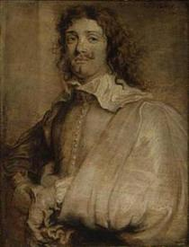 Ван Дейк, портрет Адриана Браувера, 20х15 см, Boughton House, Англия