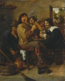 Адриан Браувер, Курильщики, 46х37 см, 1636, Метрополитен музей, Нью-Йорк, США