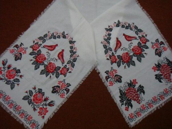 Вышивка, венчальный рушник
